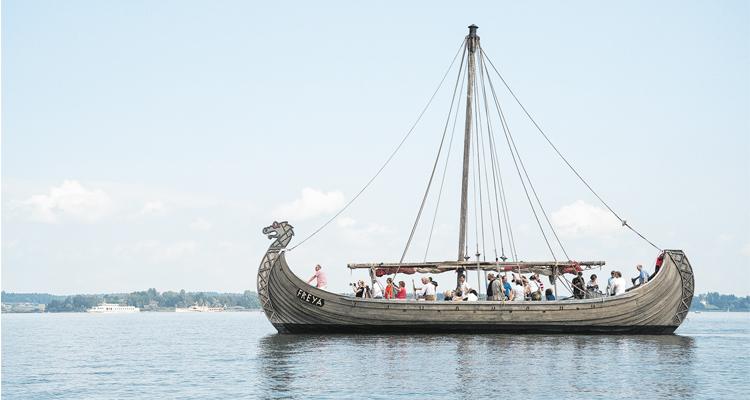 Wikingerschiff FREYA am Chiemsee